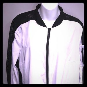 Blanc Noir jacket. White black. Women's size Large